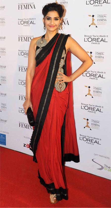 Sonam Kapoor In Beautiful Saree