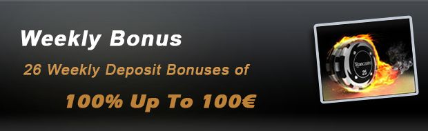 26 weekly deposit rewards of 100% up to 100€. Consistently, for the following 26 weeks, you will receive a match deposit bonus of 100% up to 100€. #Titancasino   #nodepositbonuscodes   #weeklybonus  http://www.casinoswithbonus.co.uk/titan-casino-promotion/#Weekly-Bonus