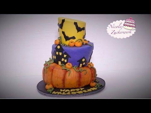 HALLOWEEN Motivtorte | Topsy-Turvy-Torte | Halloween-Woche 2016