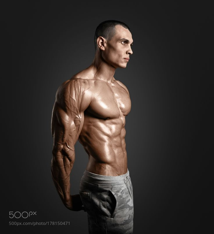 Strong Athletic Man Fitness Model Torso showing six pack abs. by krisanow2007