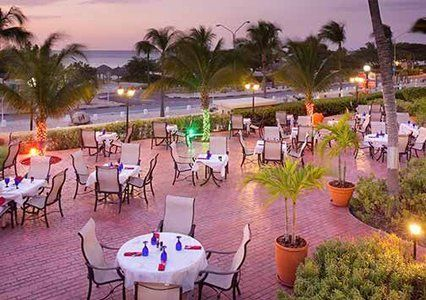 Dine at your choice of seven unique on-site restaurants at Bluegreen Vacations La Cabana Beach Resort and Casino, an Ascend Resort in Oranjestad, Aruba.
