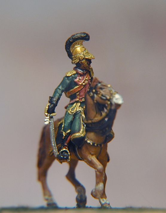 French Line Lancers Officer (own resin cast)