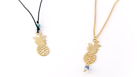 Pineapple Necklace Little Pineapple Charm by AnVhandmadecreations
