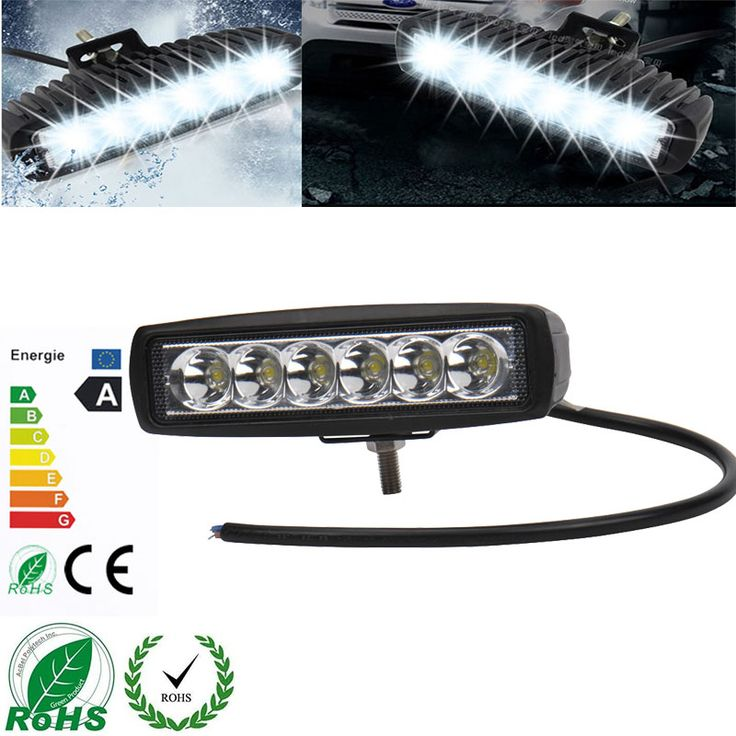 10 Pcs 18W LED Working Light 6 Inch Flood Lights for Motorcycle Driving Boat Car Tractor Truck SUV 6 Inch Flood Lights