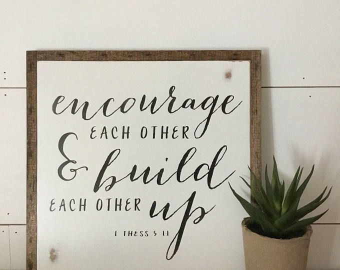 ENCOURAGE 1'X1' sign | distressed wooden sign | farmhouse decor | framed wall art