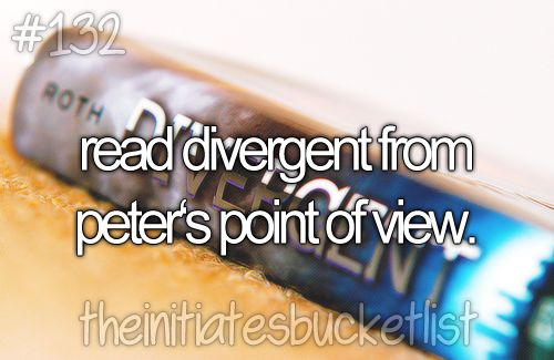Yes! we have tobias' point of view in Free Four but Peter's POV would be so interesting