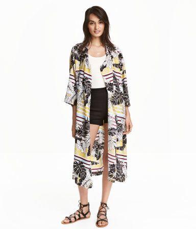 Gemusterter Kimono   Hellrosa/Geblümt   Ladies   H&M DE