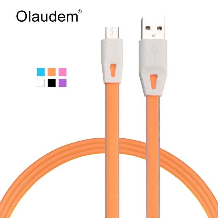 Micro USB 2.0 Data Sync Cable Charger Line For Samsung HTC Lenovo Sony LG Android Mobile Phones Flat Noodle Data Lines  USBC178