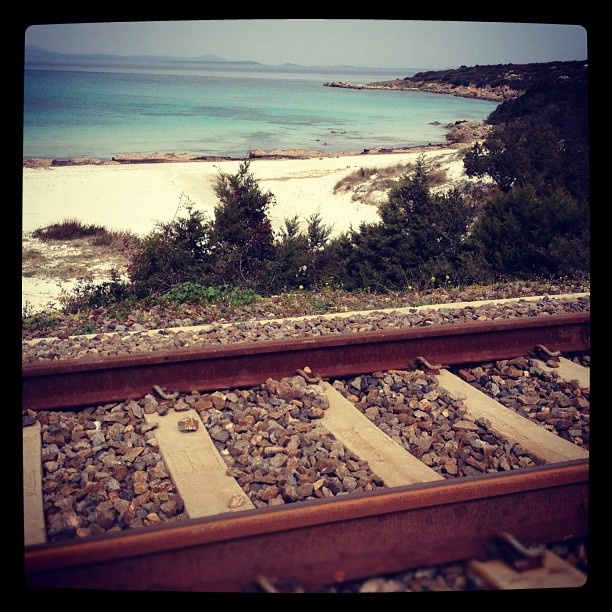 #sardinia #sardegna #autumn #train #sea @quintomoro- #webstagram