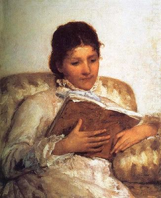 """Reading the book"" or ""Woman Reading"" (1877) -  Cassatt_Mary"