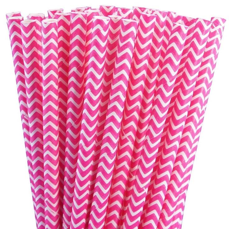 Greenmunch - Paper Straws - Pink Chevron, $4.50 (http://www.greenmunch.ca/paper-straws/standard-length/chevron/paper-straws-pink-chevron/)