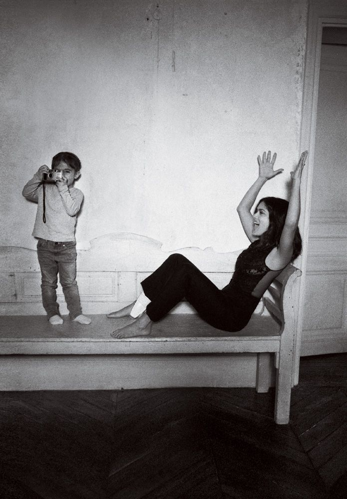 Salma Hayek in Alexander McQueen with daughter Valentina.