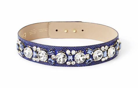 Crystal belt in dark blue Handmade in Italy for you!  Sparkle like a movie star in these beads and crystals which make any outfit an extremely glamorous one! Each stone is applied by skilled hands. The belt is made out of genuine leather by a manufacturer who has been producing leather accessories since 1977! It features a hidden double button closure and can be worn with any piq look.
