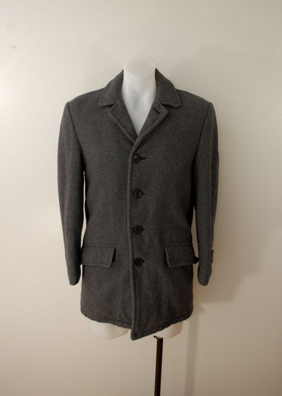 Vintage Sears Oakbrook Wool Lined Winter Coat By