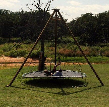 17 best images about trampoline beds on pinterest for Hanging round hammock