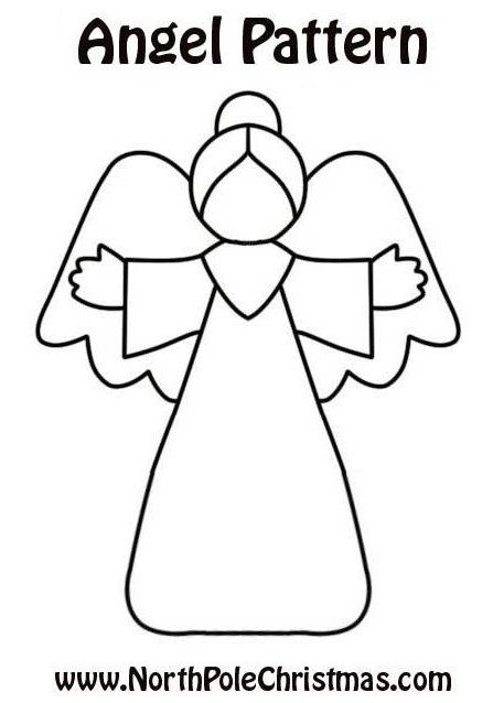 Best 25 christmas angels ideas on pinterest crafty for Angel tree decoration template