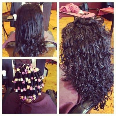 Image result for Beach Wave Perm Technique Wrapping