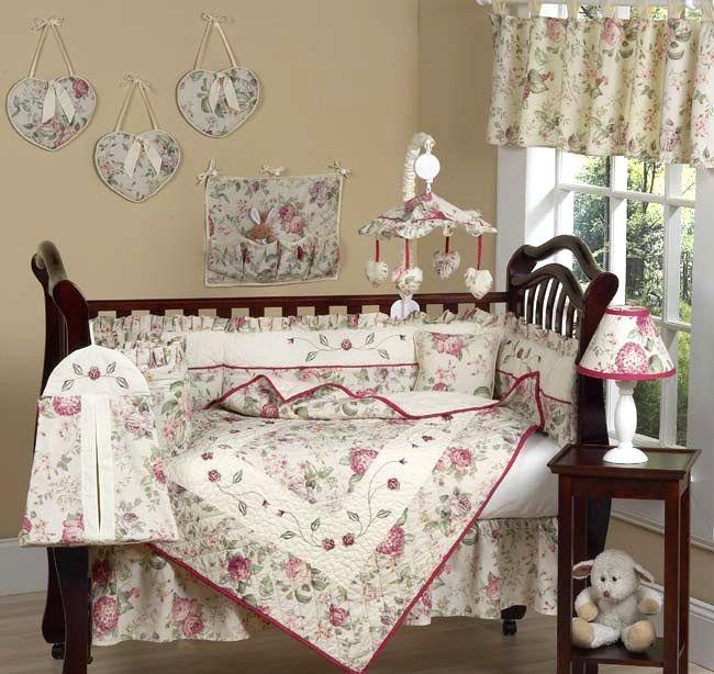 nursery bedding | ... Rose Western Cowgirl Baby Nursery Theme Bedding 9 Piece Crib Set