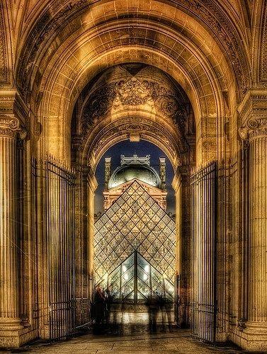 Louvre at night, Paris