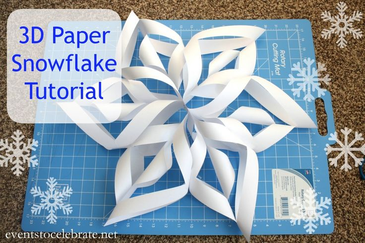 3D Paper Snowflake Tutorial -  step-by-step photos - perfect for a Winter Wonderland or FROZEN themed party!