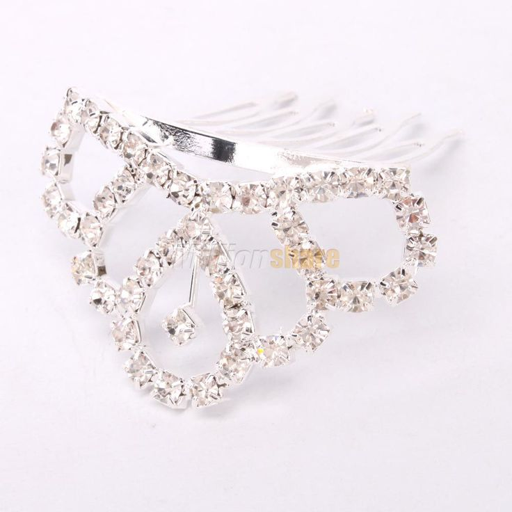 Fashion Elegant Small Rhinestone Circle Crown Comb Hair Clip Tiara