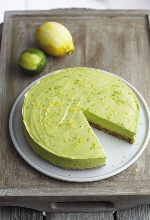 Raw avocado super-cake recipe taken from Honestly Healthy Cleanse by Natasha Corrett