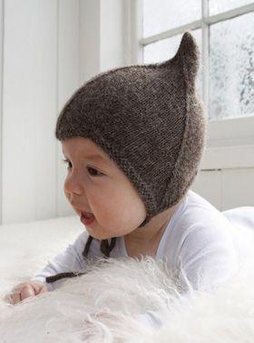 Strikkeopskrift, den sødeste, strikkede babyhue