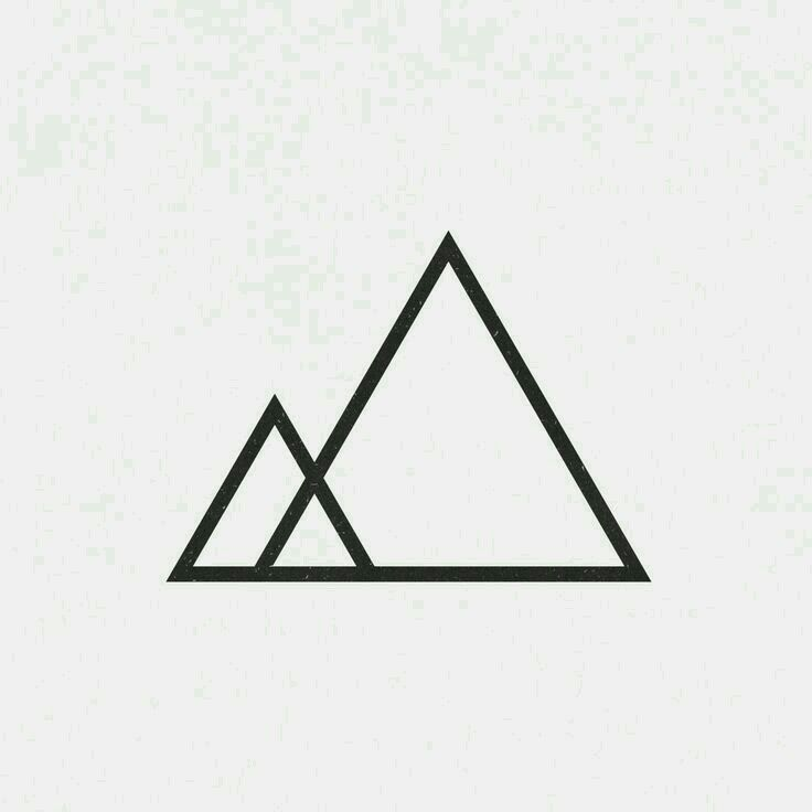 Mountain tattoo simple geometric black for zak