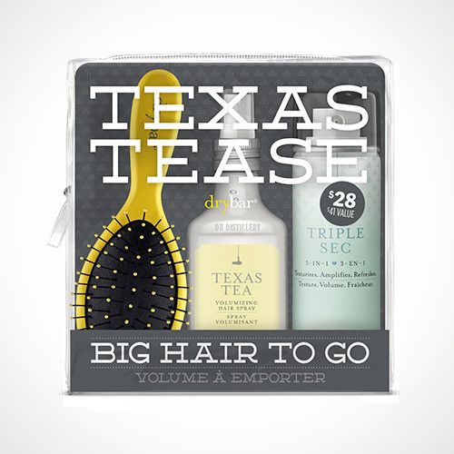 Big Hair To Go Travel Kit - Save $13 A collection of Drybar essentials to deliver the perfect DIY blowout, with an extra helping of volume. Features a mini assortment of products to cleanse, dry, styl