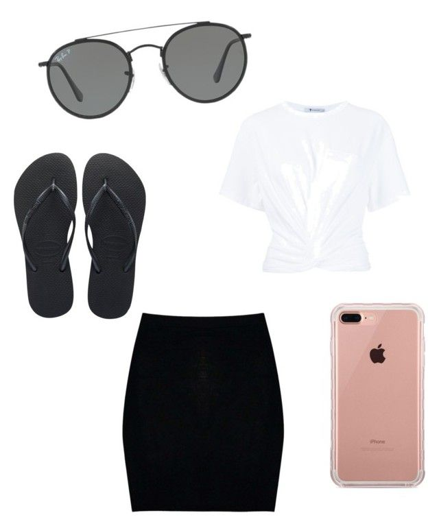 """""""Untitled #23"""" by alexandra-kermanidis on Polyvore featuring Boohoo, T By Alexander Wang, Havaianas, Belkin and Ray-Ban"""