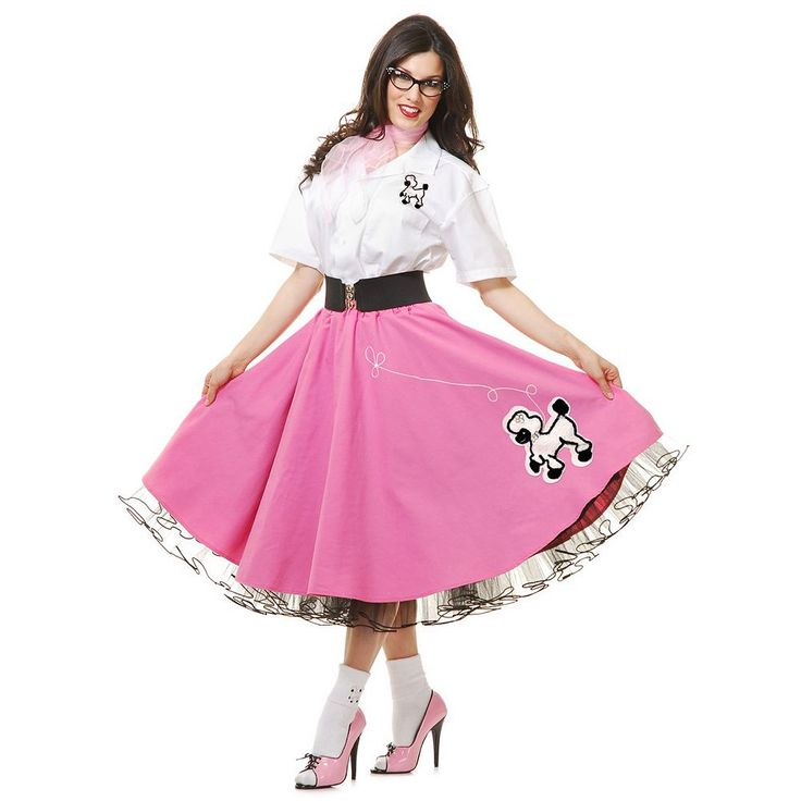 50's Poodle Skirt Costume - Adult, Women's, Size: Small, Multicolor