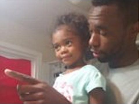 Adorable video A father motivating his daughter for the first day of sch...