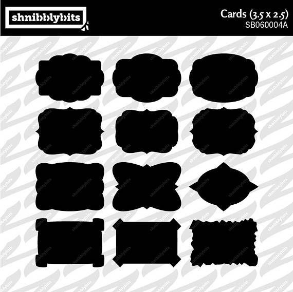 12 Card Cutouts