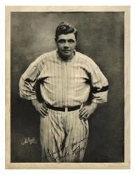 """In the last 100 years of the game, there were a number of baseball records left out of the record books, but they did make it into Billboard Magazine. Babe Ruth was the first player to be honored by a phonograph record. The 1920 release of the monolog titled """"Babe Ruth's Home Run Story"""" was one of the earliest methods used for recording a record. Dated before the use of vinyl in 1926, the records were made of a mixture of shellac and slate dust. The record came with """"One photographic print…"""
