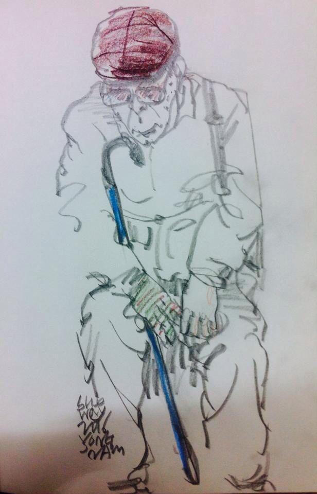 Subway Drawing by yongnam