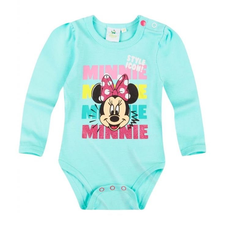 O tinuta cocheta intr-o culoare atragatoare pentru fetita ta!  body cu inchidere cu capse intre picioare si la umar; imprimeu cauciucat frontal si print cu sclipici; material de calitate din bumbac 100%; maneci lungi cu incretituri cochete la nivelul umerillor; articol produs cu licenta Disney Minnie