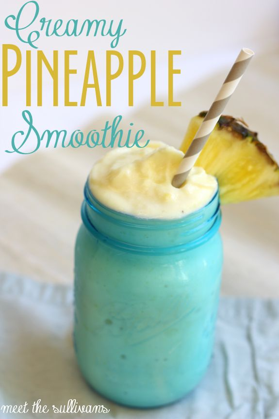 Thirsty Thursday | Creamy Pineapple Smoothie