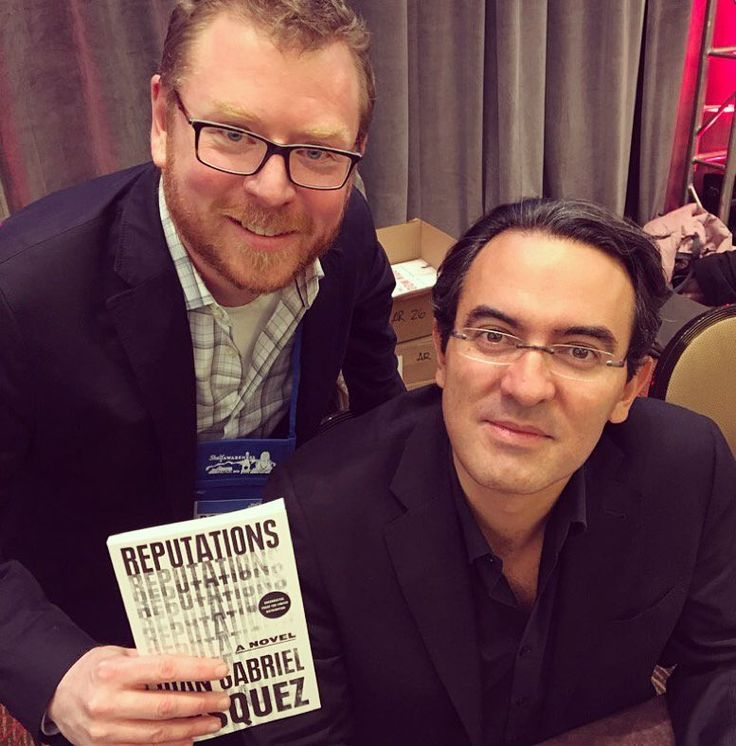From Riverhead Books: Seattle bookseller Robert Sindelar achieved his top goal for Winter Institute  meeting novelist Juan Gabriel Vasquez! Hands up if you also got to spend time with international literary superstar Juan Gabriel Vasquez in Denver. Or if you own nice-looking bookseller spectacles like Robert.  #indiepublishing #publishing