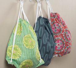 Drawstring backpacks. #Sewing #DIY #Craft #SouthAfrica