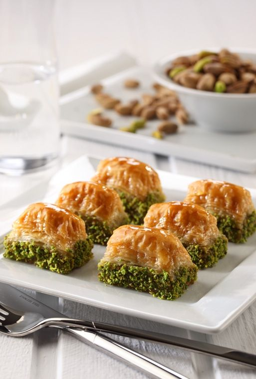 """Turkish Food: A kind of Sweet Pastry """"Baklava"""" from Gaziantep/Turkey."""