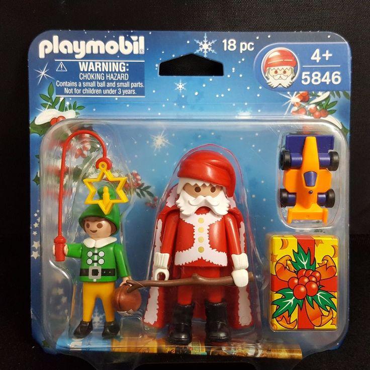 Playmobil Christmas Playset Santa Elf Woodland Forest 18 pcs Stocking Stuffer #PLAYMOBIL