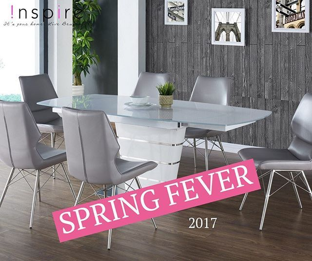 The Alto table is turning heads this spring! This retro-inspired contemporary table has a self-storing extension with an easy-to-use swivel mechanism. The table top is high gloss white painted finish with 10mm white painted glass, and the rest of the table features a stainless steel-wrapped base and accents. Gorgeous...