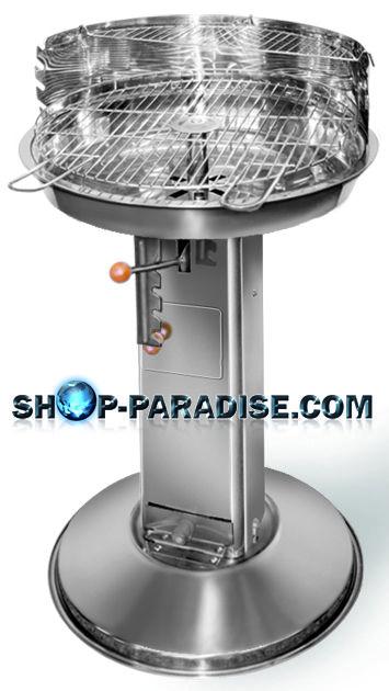 SHOP-PARADISE.COM:  Edelstahlsäulengrill Säulengrill Romano D-45 cm 46,21 €