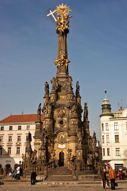 Holy Trinity Column in Olomouc, Czech Republic