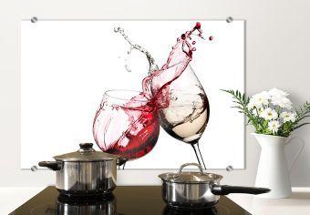 Pannello paraschizzi - Bicchieri di vino