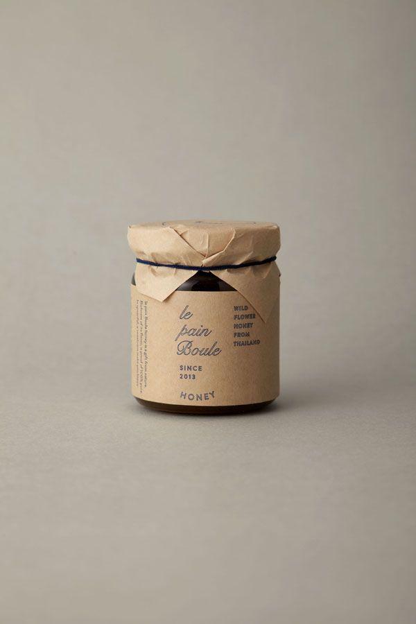 [design work] le pain boule / HONEY : brand logo & package design / credits : art direction & logo design : shun kawakami, artless / design: artless tokyo / client : YAMATO Co.,ltd.