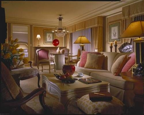 Living room in the Penthouse suite Bellagio Las Vegas