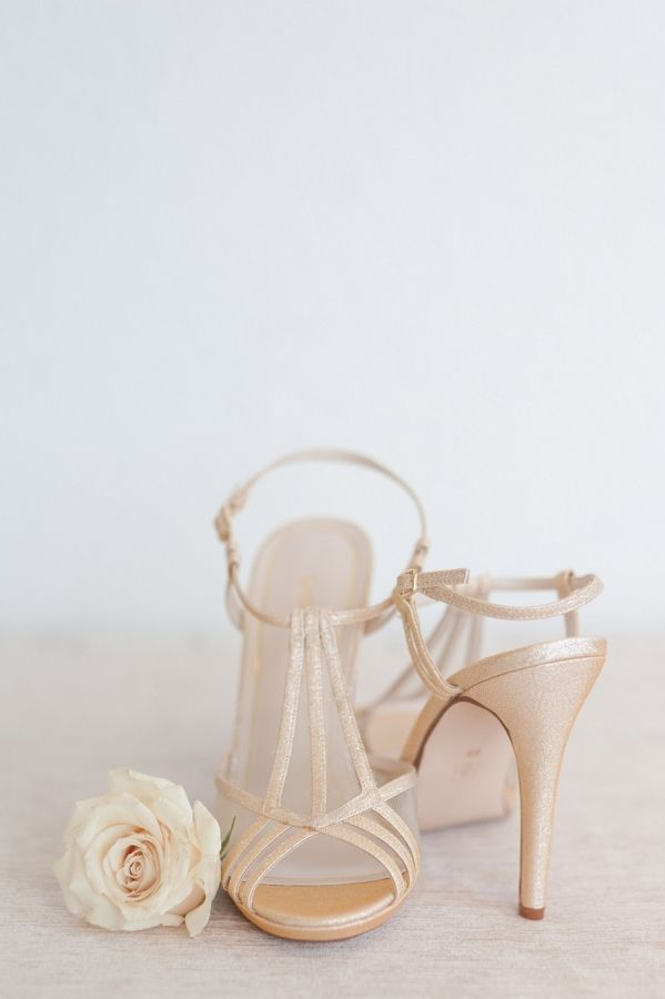 Champagne Shimmer Wedding Shoes | Rahel Menig Photography | http://heyweddinglady.com/wine-champagne-pairing-chic-wedding-palette/