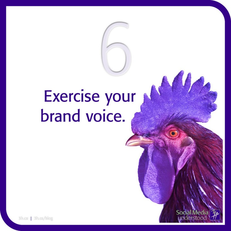 Exercise your brand voice. Building an online brand gives you a voice! It's a voice you create and can build to reach thousands of people all over the world. You'll need to exercise your voice to reach your audience. Download the 3H eBook Social Media Understood: http://3h.ca/ebook_social_media.php