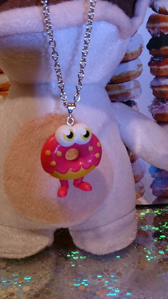 Handmade *ULTRA RARE* Moshi Monster Oddie the Doughnut Necklace.  Available to buy from our shop on Etsy - Bead Geek 13.
